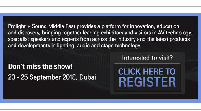 Register to visit Prolight Sound Middle East 2018